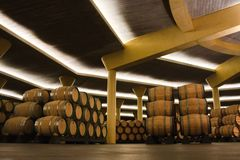 Winery warehouse Royalty Free Stock Image
