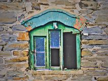 Winery window. Old keuka lake winery Stock Photos