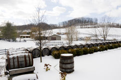 Winery During Winter Stock Photo