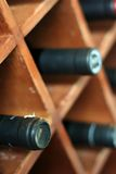 Wines. Photograph of wine in the storage stock images