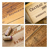 Wines boxes Royalty Free Stock Image