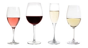 Wines collection isolated. On white Stock Image