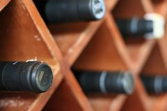 Wines display Royalty Free Stock Photography