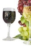wines för snittexponeringsglas Arkivfoto