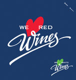 Wines hand lettering (vector) Stock Photo