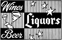Wines Liquors Beer 2 Royalty Free Stock Photos