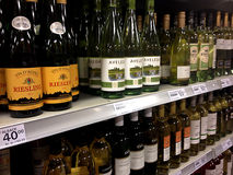 WINES ON SHELF Royalty Free Stock Images