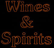 Wines and spirits Royalty Free Stock Images