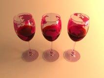 wines världen Royaltyfri Fotografi