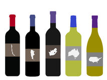 Wines of the World Royalty Free Stock Images