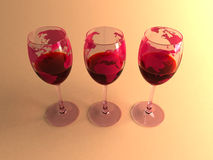 Wines of the world. America, europe Royalty Free Stock Photography