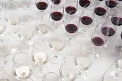 Winetasting glasses Royalty Free Stock Photo