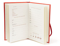 Winetasting notebook on white background Stock Photos