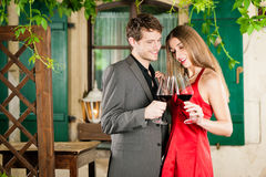 Winetasting in restaurant Royalty Free Stock Photo