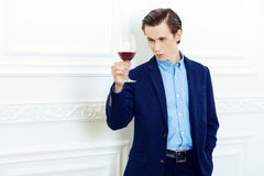 Winetasting sommelier Royalty Free Stock Photography