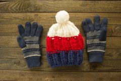Winetr hat and gloves Stock Photography