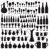 Wineware silhouettes Royalty Free Stock Photography