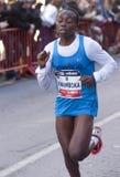 Winfrida Kwamboka, Mitja Marato Granollers Royalty Free Stock Images