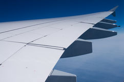 Wing of A-380 Stock Image