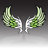 Wing. Black green and white wings Royalty Free Stock Photography