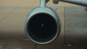 Wing aeroplane engine stock video footage