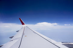 Wing of Aeroplane Stock Photography