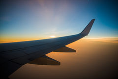 Wing air plane Stock Image