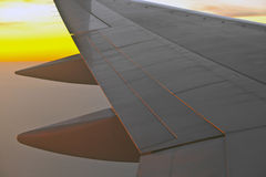 Wing of aircraft Royalty Free Stock Photography