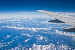 Wing aircraft. In the high-altitude Stock Images