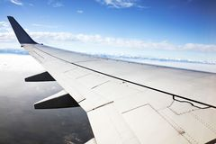 Wing of an aircraft Royalty Free Stock Images