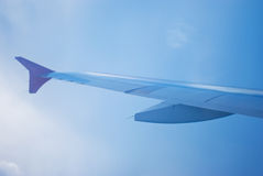 Wing aircraft  in motion Royalty Free Stock Image