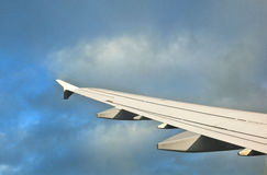 Wing of aircraft Stock Photography