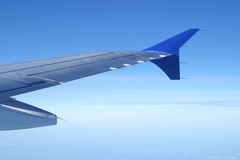 Wing aircraft in the sky Royalty Free Stock Images