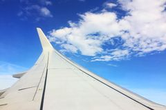 The wing aircraft on the sky Stock Images