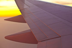 Wing of aircraft Royalty Free Stock Images