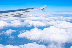 A wing of airline Royalty Free Stock Photography