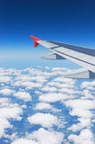 Wing of the airplane Royalty Free Stock Photo