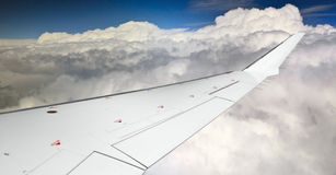 Wing of an airplane Royalty Free Stock Photo