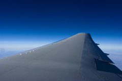 Wing of an airplane Stock Image