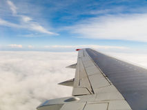 Wing of an airplane Stock Photography