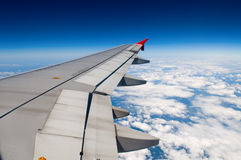 Wing of airplane Stock Image