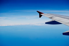 The wing of airplane Royalty Free Stock Image
