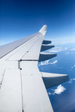 Wing of an airplane Royalty Free Stock Image