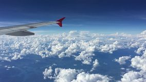 Wing of airplane stock footage