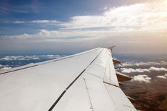 Wing of an airplane. Stock Images