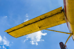 Wing of airplane Stock Images