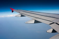 Wing of airplane Royalty Free Stock Image