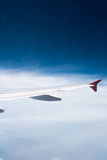 Wing of airplane Royalty Free Stock Images