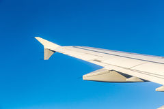Wing of airplane from window Royalty Free Stock Image