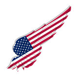 Wing with american flag on white background. Vector illustration. Wing with american flag on white background. illustration Stock Images
